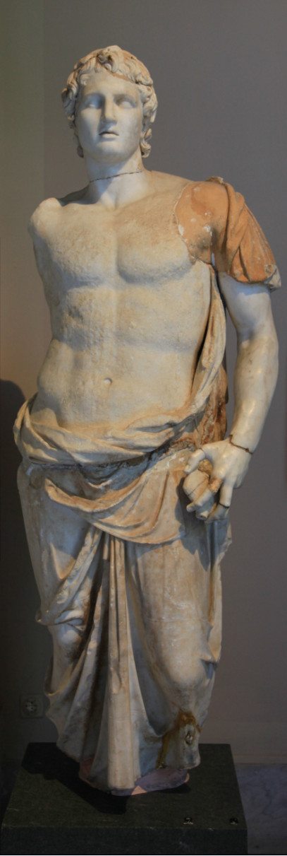Hellenistische Bildnisstatue (Alexander d. Gr.?).  Archäologisches Museum Istanbul, Inv. 709. Aus Magnesia am Sipylos. (Foto: G. Paquot)